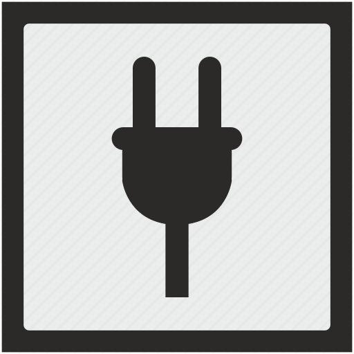 charge, electric, electricity, function, square icon