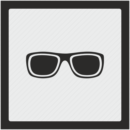 eye, function, glasses, square, style, vision icon