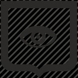 eye, shield, view, vision icon