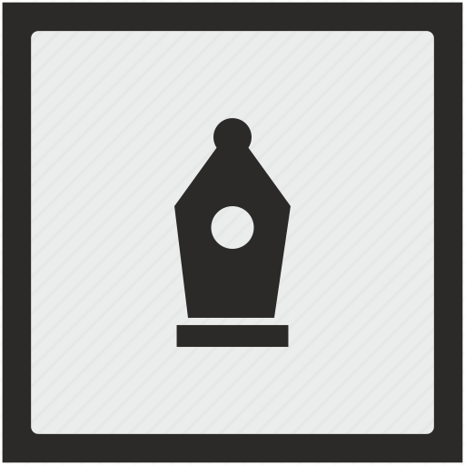 edit, feather, function, graphics, instrument, square icon