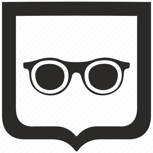 eye, female, glasses, shield, woman icon