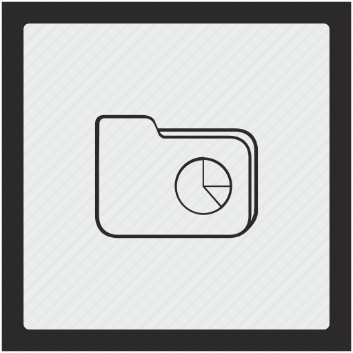 chart, document, file, folder, function, square icon