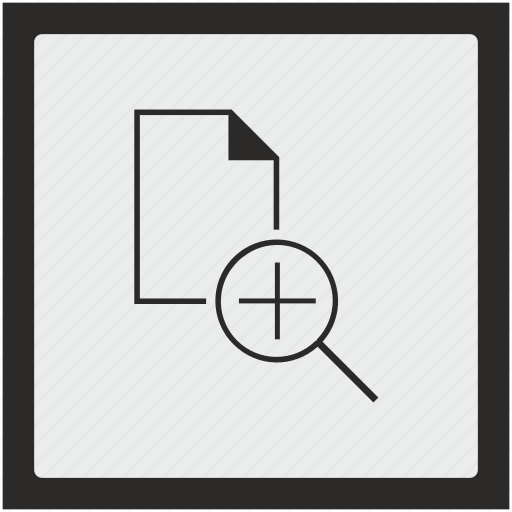 document, file, function, plus, scale, square icon
