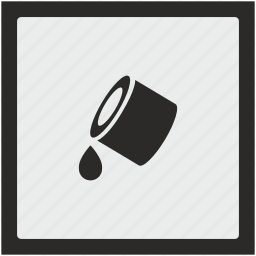 color, drop, fill, function, ink, printer, square icon