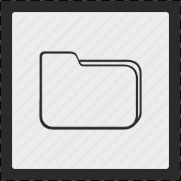 document, file, folder, function, square icon