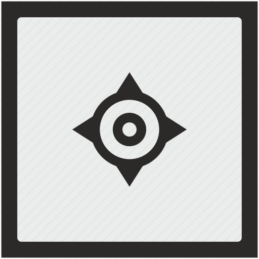 cursor, function, geo, navigation, position, square icon