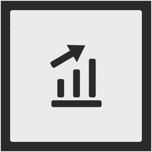 chart, data, grow, report, seo, square icon