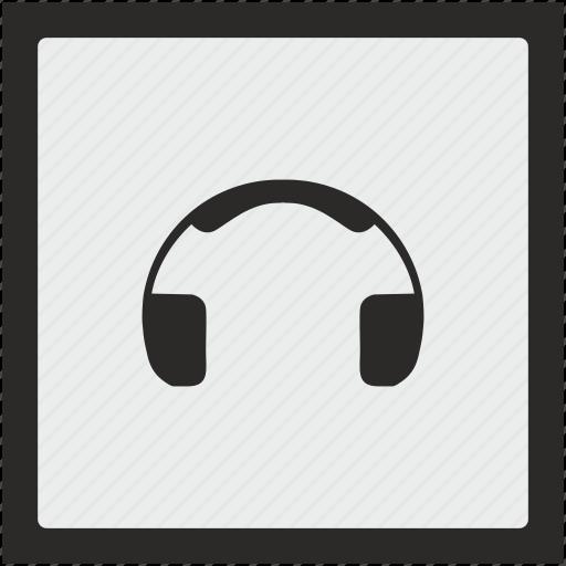 function, head, listen, music, sound, square icon