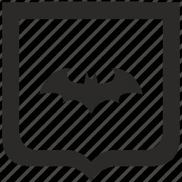 bat, batman, hero, shield icon