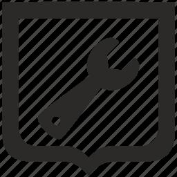 equipment, instrument, shield, tool icon