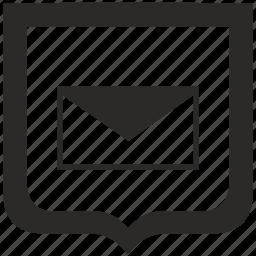 file, letter, news, shield icon