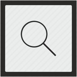 find, function, loop, magnifier, square icon