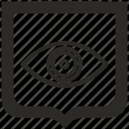 eye, man, shield, vision icon