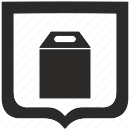 letter, pack, package, shield icon