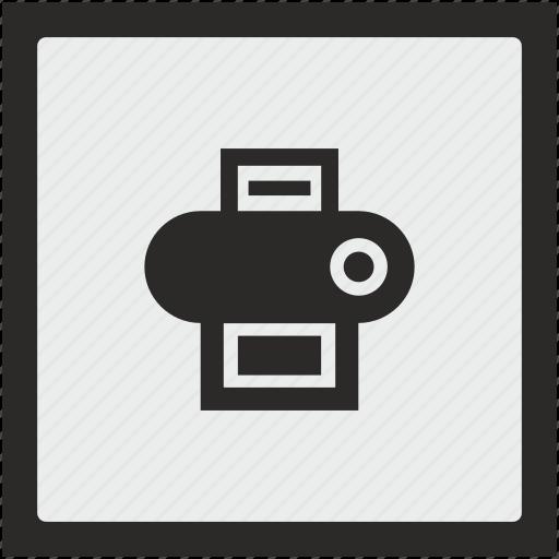 device, function, printer, square icon