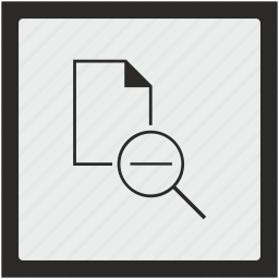 document, file, function, minus, scale, square icon
