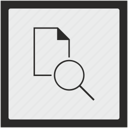 document, file, find, function, search, square icon