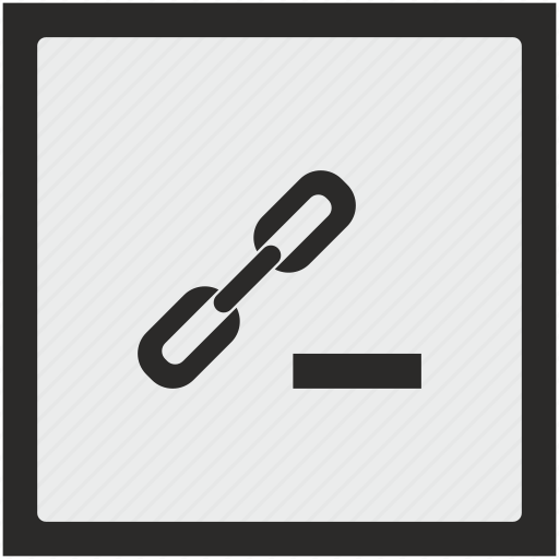 cut, erase, function, href, link, seo, square icon