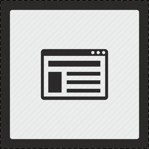 content, context, page, seo, square, text icon