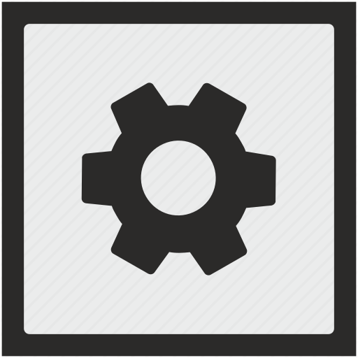 configurate, function, gear, option, settings, square icon