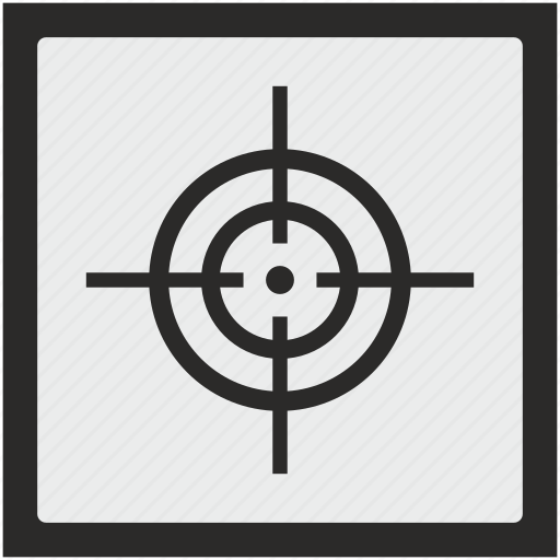 function, shoot, shooting, sniper, square, target icon