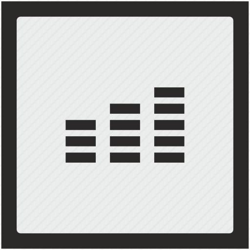 function, levels, music, sound, square icon
