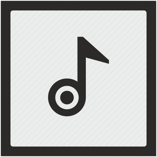 function, music, note, sound, square icon