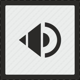function, music, mute, sound, speaker, square icon