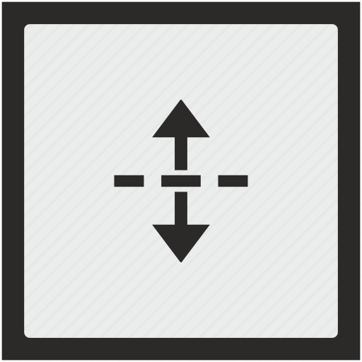 border, down, drag, drop, separate, square, up icon
