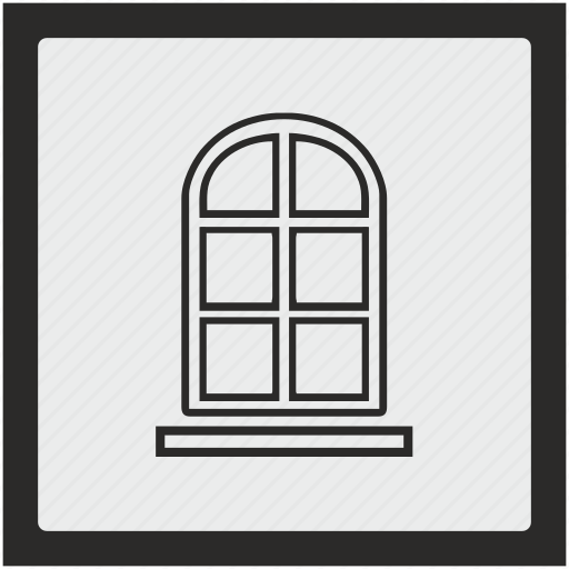 classic, function, house, light, square, window icon