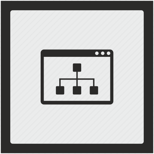 map, seo, sitemap, square, structure, window icon