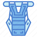 chest, equipment, guard, protection, sportive icon