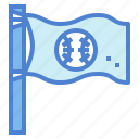 baseball, flag, sign, sport