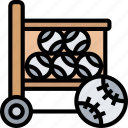 baseball, bucket, ball, equipment, sport