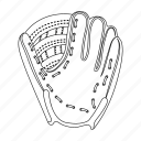 baseball, equipment, glove, hand, player, trap icon