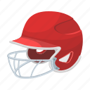 attribute, baseball, casque, equipment, helmet, protective, sport icon