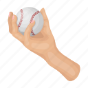 arm, attribute, ball, baseball, equipment, sport, throw icon