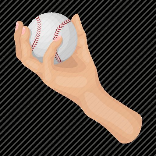 arm, attribute, ball, baseball, equipment, sport, throw icon