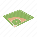 attribute, baseball, equipment, field, playground, sector, sport icon