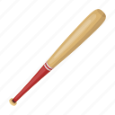 attribute, baseball, bat, equipment, sport, wooden icon