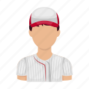 athlete, ballplayer, baseball, baseball player, sport, uniform icon