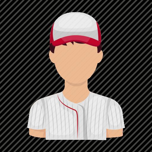athlete, ballplayer, baseball, baseball player, sport, uniform icon