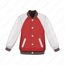 attribute, baseball, clothes, equipment, jacket, sport, uniform icon