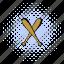 baseball, bat, comics, crossed, halftone, two, wooden icon