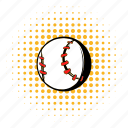 ball, baseball, comics, halftone, softball, sport, team icon