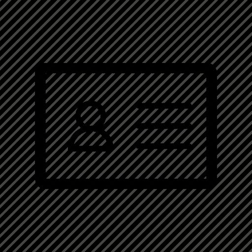 address, card, contact, friends, network, person, profile icon