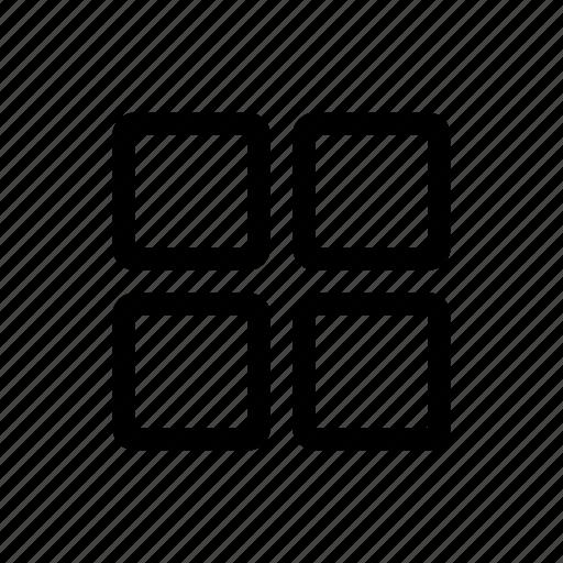 blocks, boxes, grid, layout, menu, schedule, shape icon