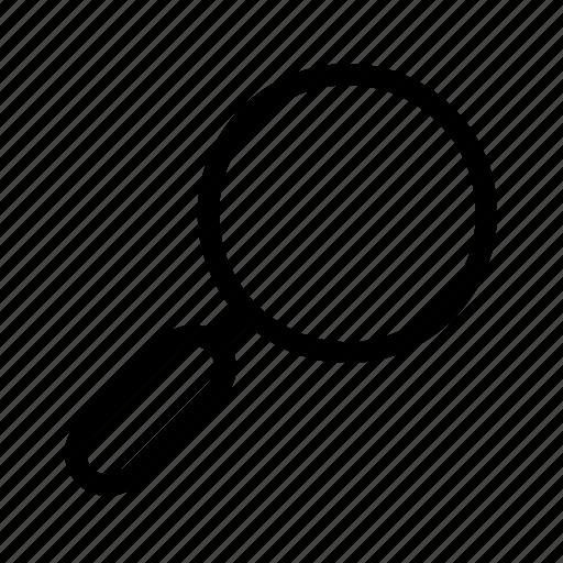 examine, investigate, magnifier, search icon