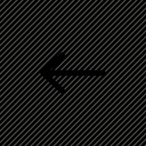 arrow, back, backward, left icon