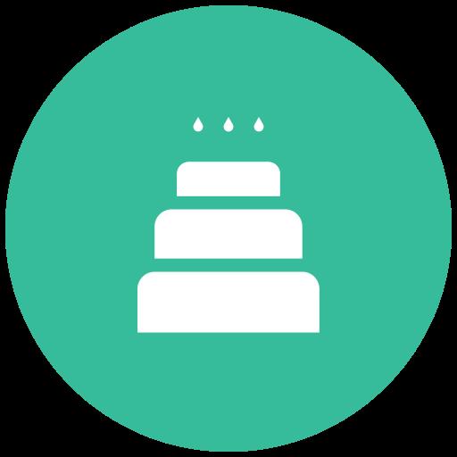 birthday cake, cake with candles, celebration, christmas cake, party, wedding cake, xmas cake icon